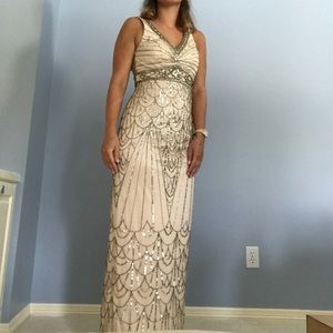 Sue Wong Beaded 20s Style Gown/Prom Dress